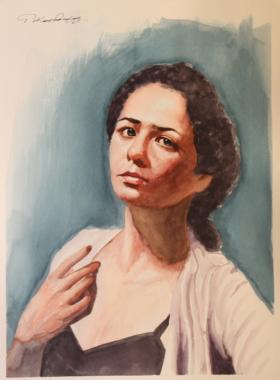 Ακουαρέλα Πορτρέτο