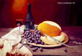 Ελαιογραφία Grapes and Melon
