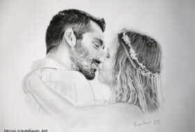 Πορτρέτο με Γραφίτη Vaggelis and Lilly