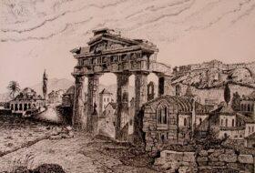Σκίτσο με σινική Αρχαία Αγορά