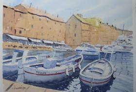 Ακουαρελα Saint Tropez