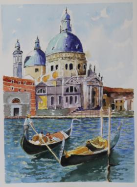 Ακουαρέλα Βενετία